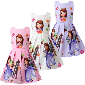 Wholesale Baby girl clothes Summer Princess Little Pony Rainbow Dresses For Girls Halloween Birthday Party Vestidos Dress Children Clothing