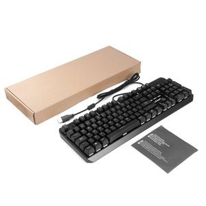 Wholesale LESHP USB Interface Adjustable Brightness Frequency Backlight Modes Wired Mechanical Multimedia Game Gaming Keyboard