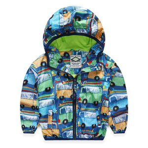 2018 Spring Autumn Children Jacket For Boys Print Cars Baby Boys Outerwear & Coats 2-8 Years Kids Windbreaker Boys Clothes on Sale