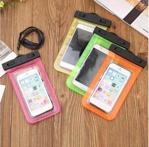 Wholesale PVC Waterproof Phone Case Cover for Cell Phone Touchscreen Mobile iphone Plus Water Proof Underwater Transparent Pouch Bag Epacket