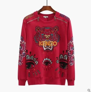Men's KENZO zipper sweater Letter Embroidery Knitwear Winter Men's Clothing Crew Neck Long Sleeve Sweater Designer Hoodies New Arrivals