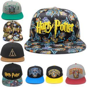 8 style Harry Potter hats Hogwarts baseball cap Adult Snapback cap Adjustable Hip Hop outdoor hat Boys Girls Cosplay Gift prop JJ79