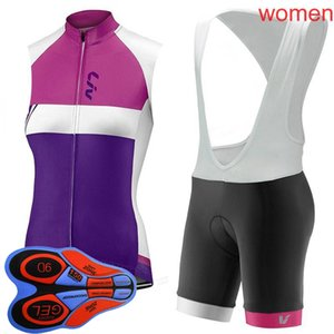 Wholesale new jersey clothing for sale - Group buy LIV Women Summer New Sleeveless Racing Cycling Jersey Breathable Bicycle clothing D Set Quick dry Maillot Ropa Ciclismo Hombre H040736