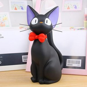 Wholesale Studio Ghibli Hayao Miyazaki Anime Kiki s Delivery Service Piggy Bank Black JiJi Cat Action Figures Toys Collection Model Toy Money Box
