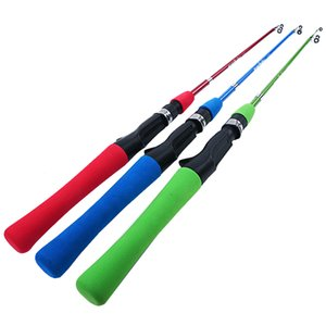 Wholesale Kids rod Pole Stick toy gift Fiberglass Children reel120cm Fishing Rods Outdoor Red Blue Green baitcast