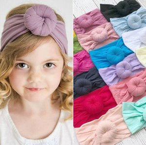 Baby Top Knot Headbands 21 Solid Colors Toddler Nylon Bohemia Headband Girl Turban Baby Hair Accessories Hair bands