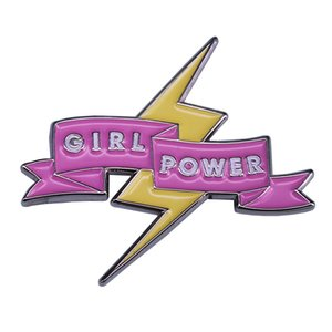 Wholesale Girl power brooch Be brave and strong female empowerment pin feminism collection