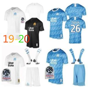 Wholesale 2019 Olympique de Marseille Soccer jersey kit uniform Marseille Maillot De Foot kit BALOTELLI L GUSTAVO THAUVIN Football shirts