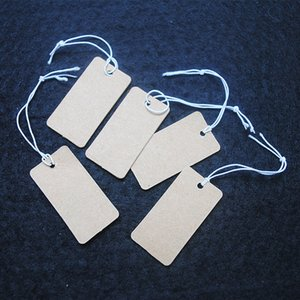 1000pcs brown paper tags jewlery label size 35x18mm top fashion jewelry findings good for your items selling marks