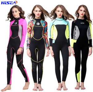 Diving suit female 3mm thick warm waterproof long sleeve trousers zipper windscreen waterproof mother floating suit on Sale
