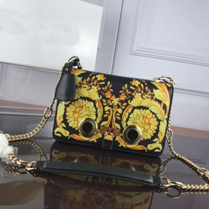 Wholesale Handbags Luxury Bag Luxury Handbags Medusa Chain Chain Single Shoulder Leather New Style Lady s Small Square Bag Printed Contrasting Color