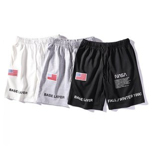 NASA x Heron Preston Shorts for Men Designer Letter Embroidery Drawstring Summer Casual Shorts 3 Colors Trend Sweatpants M-2XL on Sale
