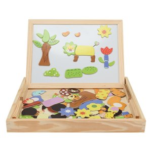Wholesale Wooden Magnetic Puzzle Kids Jigsaw Drawing Board Educational Toys