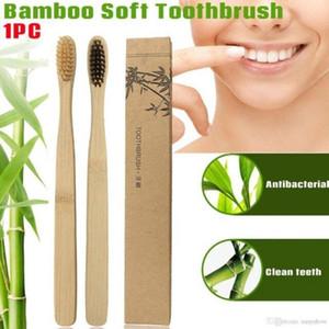 New Wood Rainbow Toothbrush Bamboo Environmentally ToothBrush Bamboo Fibre Wooden Handle Tooth brush Whitening Rainbow