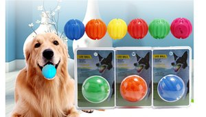 Wholesale Pet Dog Natural Rubber Toy Rubber Ball Toy Funning ABS Silicone Pet Toys Ball Chew Tooth Cleaning Balls Home Outdoor Toy Glowing Ball