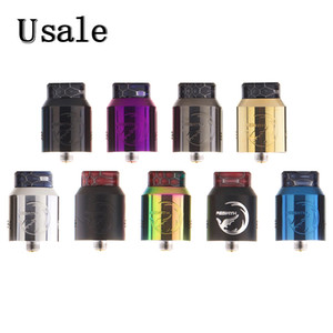 Wholesale Hellvape Rebirth RDA with Two post Build Deck Top Cap Locking System Honeycomb Airflow Design Rebuildable Drip Atomizer Original