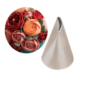 Wholesale cake roses resale online - Rose Tulip nozzle icing piping pastry tips cake decorating baking tools for fondant Bakeware