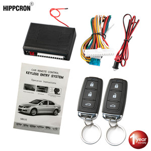 Wholesale Hippcron Car Central Door Lock Auto Keyless Entry System Button Start Stop Keychain Central Kit Universal Car V