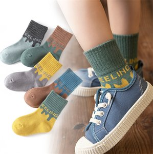 Children's socks spring and autumn new socks boys and girls cartoon children socks micro commercial explosions baby on Sale