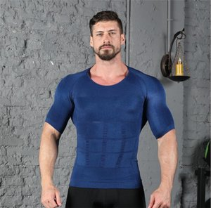 Tanks Mens Body Shapers Fat Burn Chest Tummy Waist Trainer Slimming Tops Bodybuilding Mens Gym Clothes
