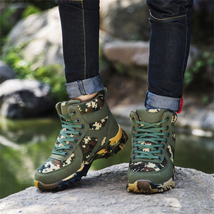 Wholesale Ankle Boots For Men s Outdoor Mountaineering Snow Boots Microfiber Waterproof Camouflage Best selling