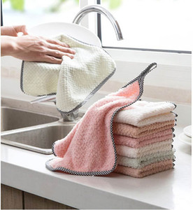 The Spot!! Cleaning Cloths Home Kitchen Household Wash Duster Cloths Multifunctional Microfibre Towel Cleaning Cloth A08