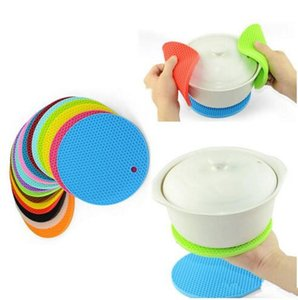 Table Silicone Pad Silicone Non-slip Heat Resistant Mat Coaster Cushion Placemat Pot Holder Kitchen Accessories Cooking Utensils 19 ColorB1
