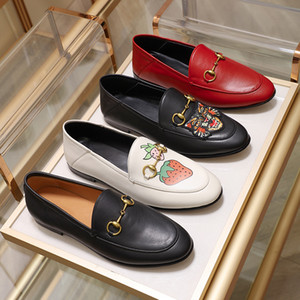 Wholesale canvas print sizes resale online - 2019 New Designer Luxury Mens Womens Genuine Leather velvet loafers with horsenbit Men women slip on Flats shoes many styles Size EUR34