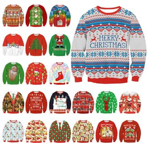 Wholesale newfstore New Unisex Festival Christmas Santa Claus Xmas Jumper Sweater Pullover Outwear Tops