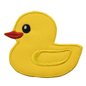 Wholesale Hot Sell Cute Yellow Duck Embroidery Patches Animal Iron On Applique For Clothing Shirt Bag Hat Custom Design