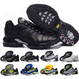 Wholesale New Arrivals chaussure TN Plus running Shoes tn Men Outdoor Run Shoes Black White Trainers Hiking Sports Athletic Sneakers EUR40