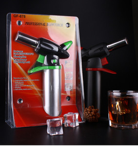 1300'C Metal Dab Jet Butane Torch Lighter Windproof Jet Flames Micro Butane Torch Lighter Professional Kitchen Torch Lighter Brulee Culinary