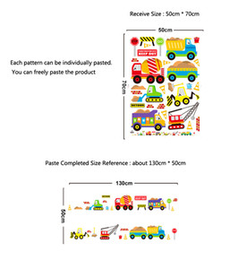 Wholesale 3d cars wallpaper for room resale online - Cartoon cars kids room wall sticker for Children s room baby bedroom wall decals window poster D car stickers wallpaper