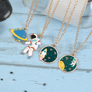 Wholesale Starry Sky Series Necklace Female Necklaces Universe Planet Pendant Astronaut Ladies Jewellery Lady Jewelry Fashion Fun Collares