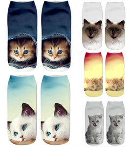 Wholesale happy socks High quality Popular Funny Unisex fashion Anti Fatigue Short Socks D cat Printed Anklet Casual s1