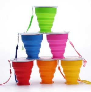 Wholesale Hot Silicone Telescopic Collapsible Retractable Folding Cup Candy Outdoor Camping Travel Tableware foldable cup camping wine glass