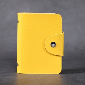 Wholesale New Cheap fashion trend men s and women s small wallet business card holder ID credit card of colors black red yellow blue white size