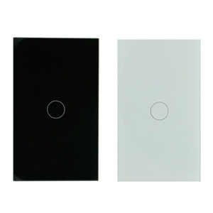 US WIFI Wireless Control 1Gang Crystal Glass Wall Smart Light Switch Supports Alexa and Google Home