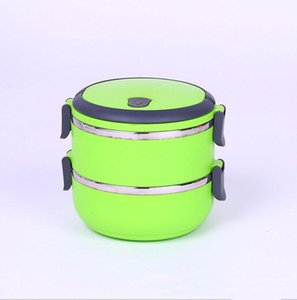 Wholesale lunch boxes resale online - Working lunch box stainless steel insulated lunch box multi layer round student lunch box can be used as a gift printable logo