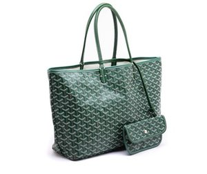 Goyarrd Hot Best-selling High Quality Fashion Paris Hot Sale Genuine Leather Goy St. Lou Pm Green Coated Canvas Tote Totes medium