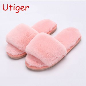 Wholesale Children Girl Indoor Slippers Shoes Boy Sheepskin Fox Fur Brand Slippers Leather Funny Plush Australia Kids Indoor Slippers B65 Y190523