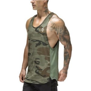 Wholesale 2019 summer brand clothing Mens Tank Tops Stringer Bodybuilding Fitness absorb sweat breathe freely Men Tanks Clothes Singlets