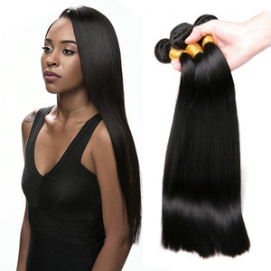 Wholesale top grade 9A brazilian hair straight 3 bundles soft and smooth 100% unprocessed virgin human hair extensions straight hair bundles