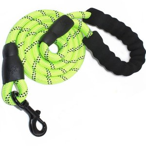 Wholesale Nylon Dog Leashes with Reflective String for Medium Large Dog Puppy Leashes with Buckle Easy Breakaway Durable Lead Products