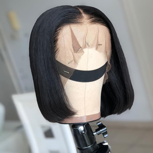 13x4 Short Lace Front Human Hair Wigs 6- 16 Inch Brazilian Straight Bob Wig Pre Plucked Hairline With Baby Hair