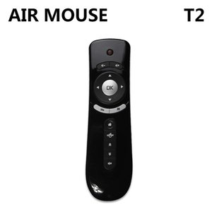 Genuine Mini Fly Air Mouse T2 2.4G Wireless Keyboard Android remote control 3D Sense Motion Stick For Smart TV Box