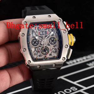 Factory direct new products silver men's stainless steel watches imported automatic mechanical men's 43 mm 11-03 multi-function rubber watch on Sale