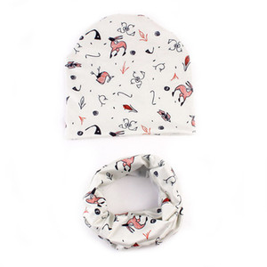 Wholesale Baby Cute Winter Kids Baby Hats Keep Warm Set Cute Hat Scarf Hat Size C warm winter