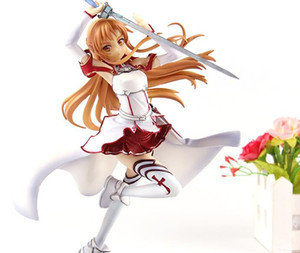Anime Sword Art Online Figure SAO Asuna Figure Action Knights of the Blood Ver. 1 8 Scale PVC Collection Model Toys