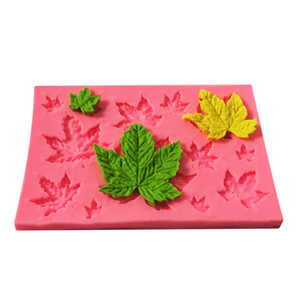 Wholesale Maple Leaves Shape Cake Sugar Silicone Mold Baking Mould Tools Kitchen Chocolate Sugarcraft Good Quality Hot Sale skh1